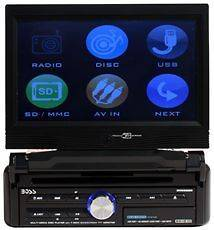 BOSS BV9958B 7 Touchscreen Car Stereo 1 Din DVD/CD/USB/SD/iPod Player