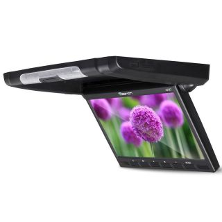 Black Car 10.1 WSVGA Flip Down Overhead 169 LCD Monitor Roof Mount