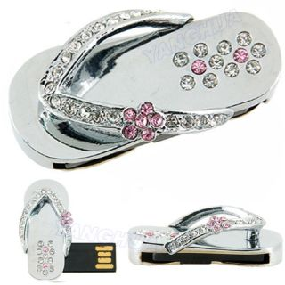 Crystal Slippers Necklace USB Flash Drive 8GB 8G Memory Stick