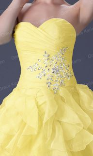 yellow prom dress in Womens Clothing