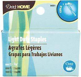LIGHT Duty Staple Gun Staples NEW 5/16 1000pc LOT OF 2