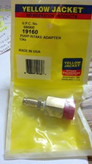 Yellow Jacket, Vacuum Pump Adapter, 1/2 Female Flare x 1/2 Male ACME
