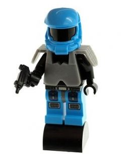 Custom LEGO Minifig Halo Master Chief   Blue with Grey Armour