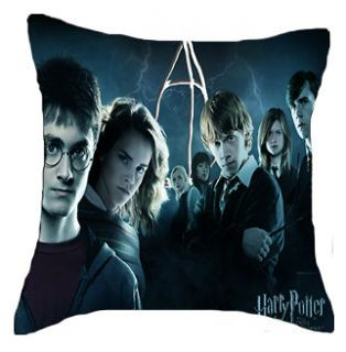 Harry Potter 7 Cushion Pillow Case 2 Side Bed Home Gift