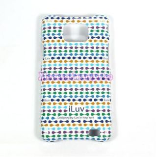 iLuv Phone Case RED with patterns For Samsung Galaxy SII + Free screen