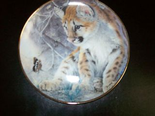 Limited Edition Franklin Mint Wild Cat/ Leopard Plates