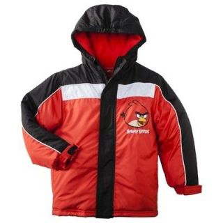 ANGRY BIRDS ROVIO Boys Fleece Lined Winter Coat Jacket NWT Size 4, 5