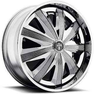32 DUB SPIN Kraay Wheel SET Chrome Spinner 32x10 RWD 5 & 6 LUG RIMS