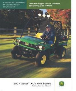 Newly listed John Deere 2007 Gator XUV 4x4 Gator Sales Brochure NEW