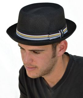 Mens Quality Summer Pork Pie Trilby Hat (M43)