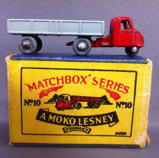Lesney Matchbox No.10 Mechanical Horse Truck and Trailer with Box