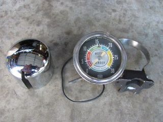 MOTOR MINDER VACUUM GAUGE VINTAGE SW STEWART WARNER HOT RAT ROD CHEVY