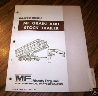 Massey Ferguson MF Grain Stock Trailer Parts Catalog