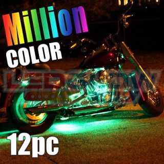MULTI COLOR MINI SMD MOTORCYCLE LED neon LIGHTS KIT for Cruiser