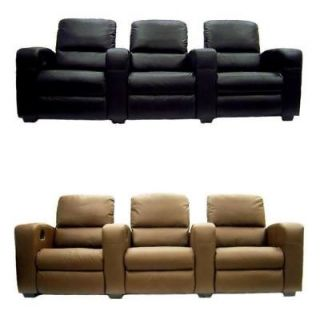 HOME THEATER SEATING RECLINER CHAIR MOVIE SEATS SOFA TOP GRAIN LEATHER
