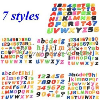 Styles Magnetic Magnet Letters Alphabet Numbers Fridge Child