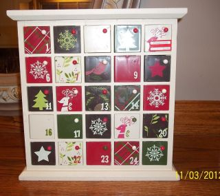 24.99 NWT wood Advent Calendar Target Home Christmas decor holiday 12