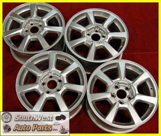 08 09 CADILLAC CTS STS 17 FRONT REAR TAKE OFF WHEELS OEM FACTORY RIMS