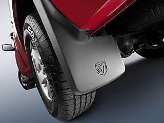 2009 2012 Dodge Ram 1500 Mopar Molded Splash Guards Mud Flaps   Front