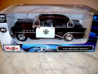 1955 Buick Century Police Car   126 Scale Special Edition Diecast