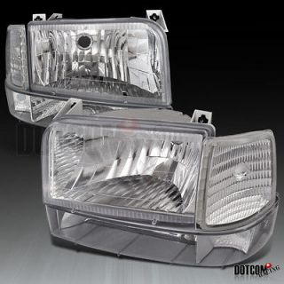 F350 BRONCO HEADLIGHTS+COR​NER+BUMPER 6P CHROME (Fits Ford Bronco