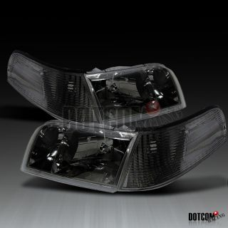 98 11 FORD CROWN VICTORIA TITANIUM SMOKE HEADLIGHTS+COR​NER SIGNAL
