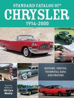 Catalog of 1914 2000 MoPar Plymouth Dodge DeSoto Chrysler Imperial