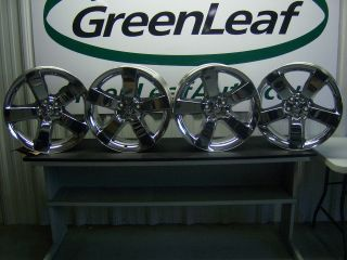 Dodge Challenger 20 5 Spoke Chrome Aluminum Wheels Rims 2009 2011 (x4