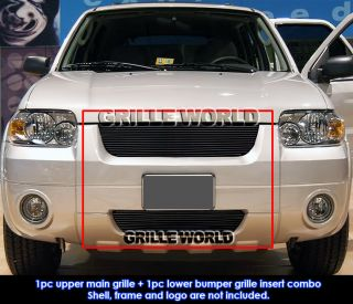 Ford Escape Black Billet Grille Grill Combo Insert (Fits Ford Escape