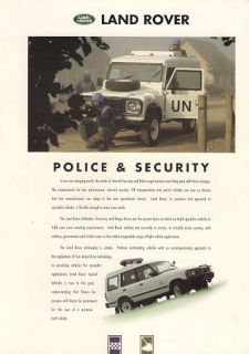 Land Rover Defender Discovery Range Rover Police & Security 1994 95 UK