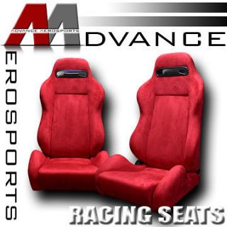 Reclinable Racing Bucket Seats+Sliders L+R Ford (Fits Ford Ranger