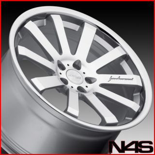 20 LEXUS IS250 IS350 MRR CV8 SILVER CONCAVE STAGGERED WHEELS RIMS