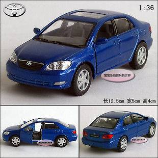 New 136 Toyota Corolla Alloy Diecast Model Car Blue B198b