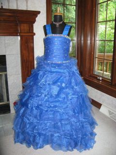 Tiffany 13311 Royal Blue Girls Pageant Gown Dress