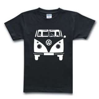 Volkswagen Bus/Vanagon 1960 VW Van Camper Black Top T Shirt Size Xs