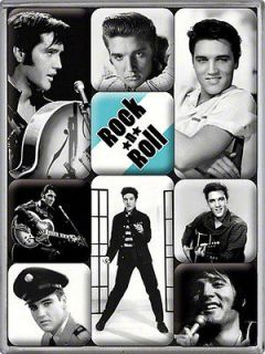 Elvis Presley set of 9 mini fridge magnets (na) from England