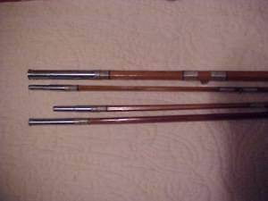 VINTAGE OLYMPIC SPLIT BAMBOO FLY ROD, 4 SECTIONS, 8