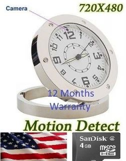Spy Covert Camera Alarm Clock Nanny Cam DVR 720*480 + 4GB memory card