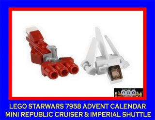 Lego Starwars Advent Calendar 7958 Republic Cruiser & Imperial Shuttle