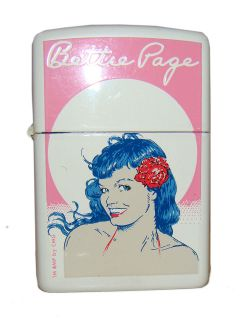 Zippo Lighter Vintage Bettie Page Pinup Jim Silke from Dark Horse