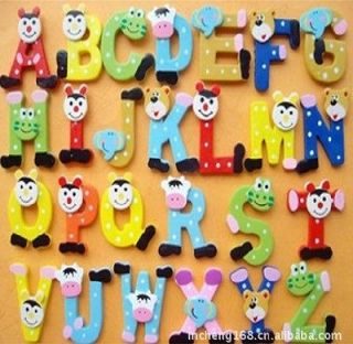 Big Letter Alphabet fridge Magnet Educational Toy Baby Kids Gift D015