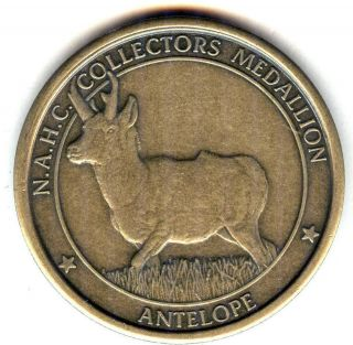 C3751 NORTH AMERICAN HUNTING CLUB BRONZE MEDAL, ANTELOPE