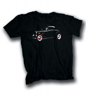 1932 Ford Model B 3 Window Deuce Coupe hot rod rat rod Tshirt sizes S