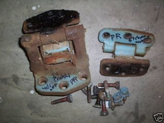 1957 Cadillac four door rear door hinges parts rat rod