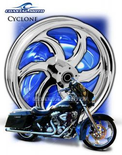 PM Cyclone Chrome Motorcycle Wheels Harley Street Glide Road Glide