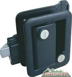 Travel Trailer Camper Entry Door Lock Handle Knob with Deadbolt Black