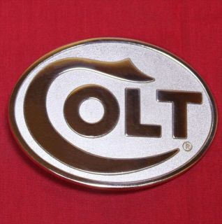 Colt Firearms Factory Gold & Rhodium Colt Belt Buckle Mint