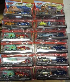 Disney CARS metal diecast lot RARE HTF NEW carrying case holiday GIFT