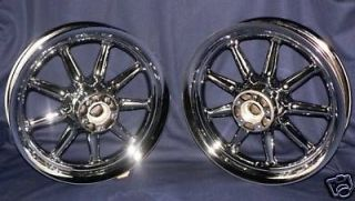Harley Chrome 9 Spoke Ultra Touring Road King Wheels FLH & FLHX