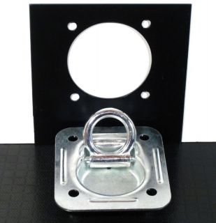 RING PLATES w BACK PLATE ENCLOSED TRAILER CARGO TRAILER VAN TIE